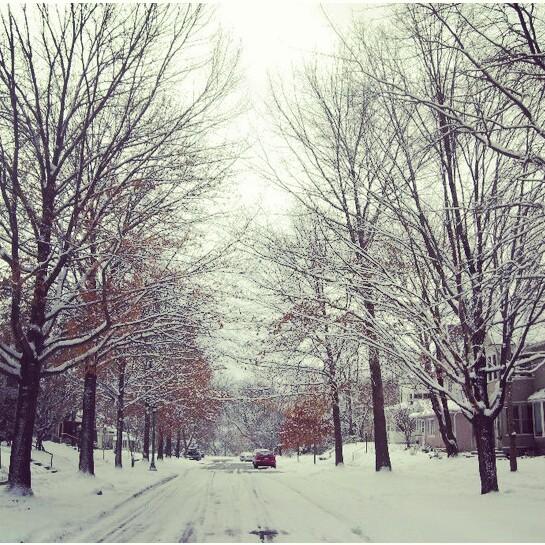 Tempestade neve em Minnesota