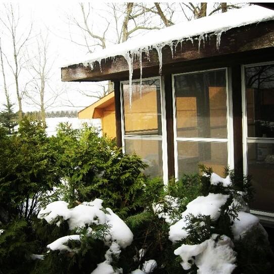 Neve durante o inverno em Minnesota