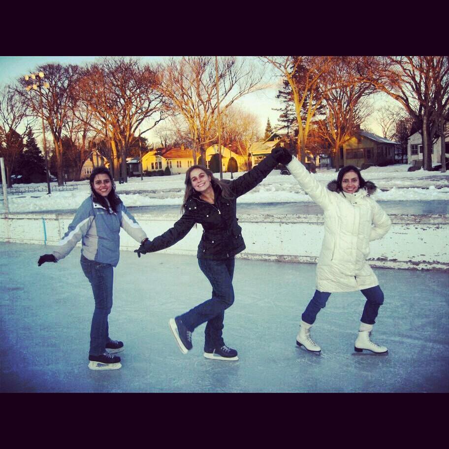 Patinação no gelo em Minnesota