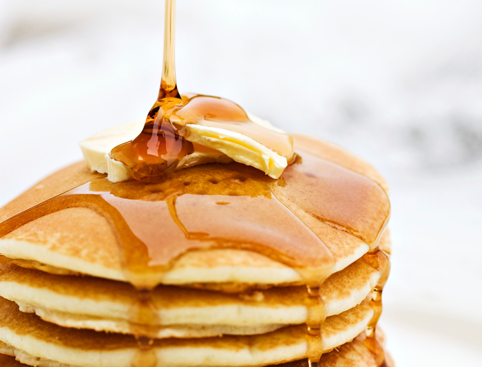 panquecas maple syrup