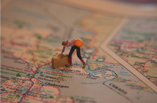 A vontade de viajar