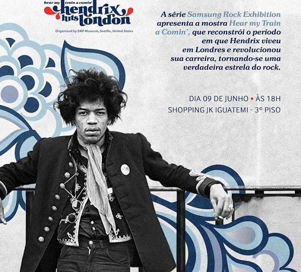 "Exposição Jimi Hendrix: ""Hear my train a Comin´: Hendrix Hits London"""