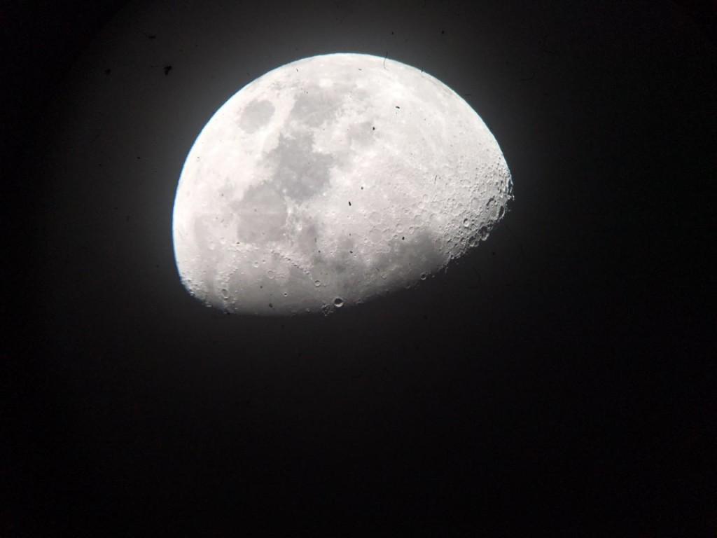 Foto tirada do telescópio durante o tour astronômico.