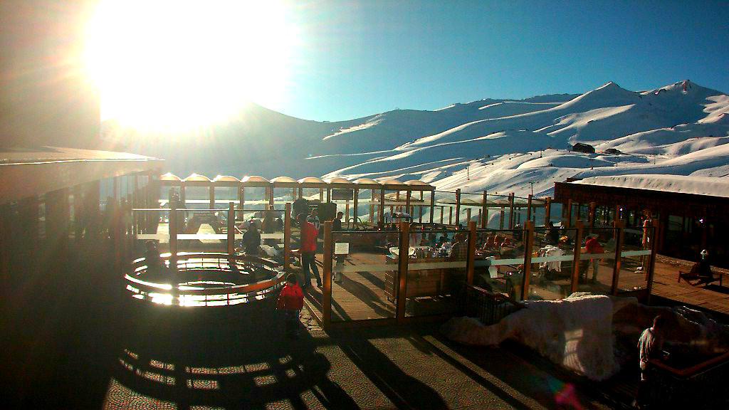 neve no valle nevado