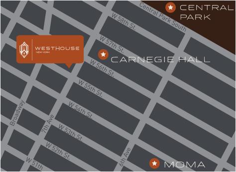 Localização Westhouse Nova York