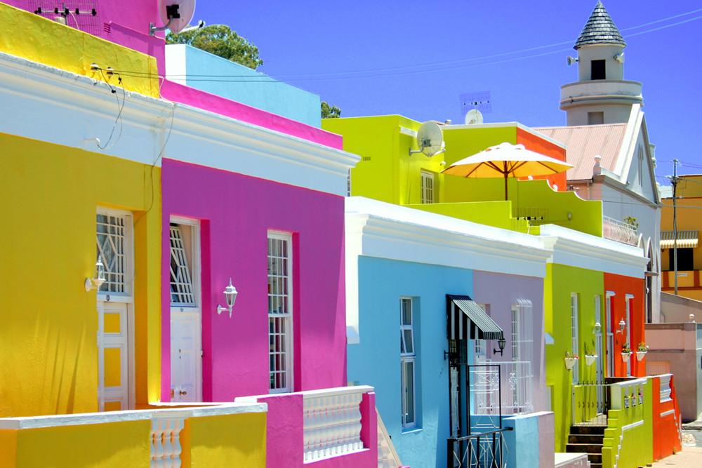 Casas coloridas super instagramáveis na África do Sul