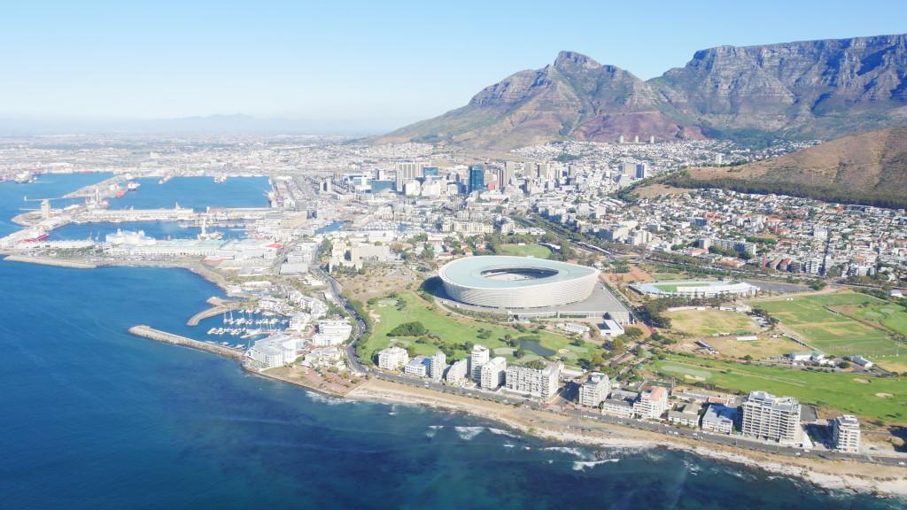 Voo de helicóptero na África do Sul