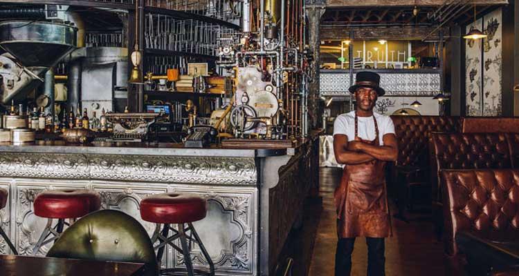 Cafeterias descoladas na África do Sul