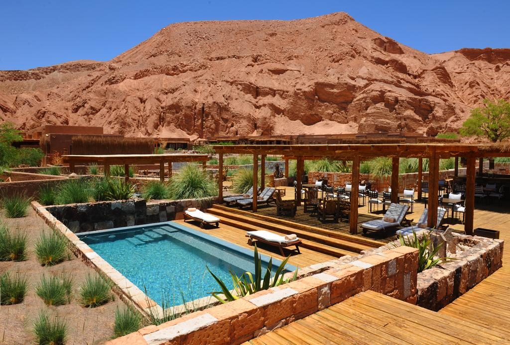 Piscina do Alto Atacama, Lodge e Spa em San Pedro de Atacama