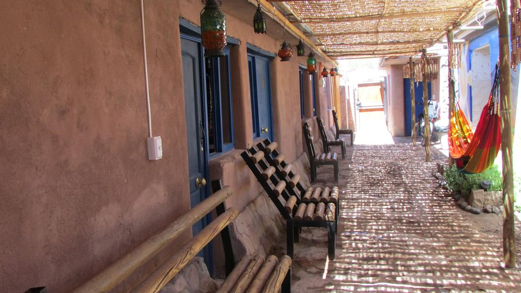Varanda Mamatierra, um dos hostels de San Pedro de Atacama