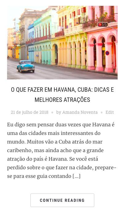 Sobre Cuba: o que fazer em Havana, no blog Amanda Viaja