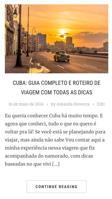 Guia completo sobre Cuba no blog Amanda Viaja