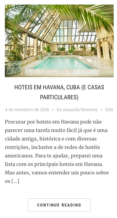 Hotéis em Havana, no blog Amanda Viaja