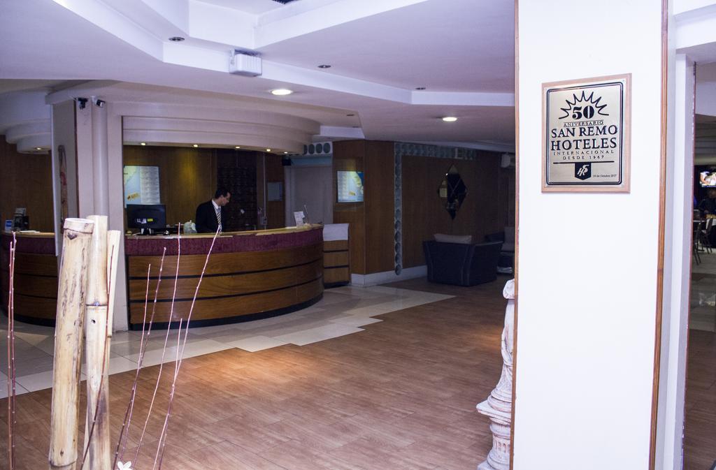 Recepção San Remo Hotel em Buenos Aires