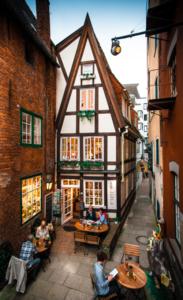 Onde comer em Bremen: cafés fofos no bairro de Schnoor