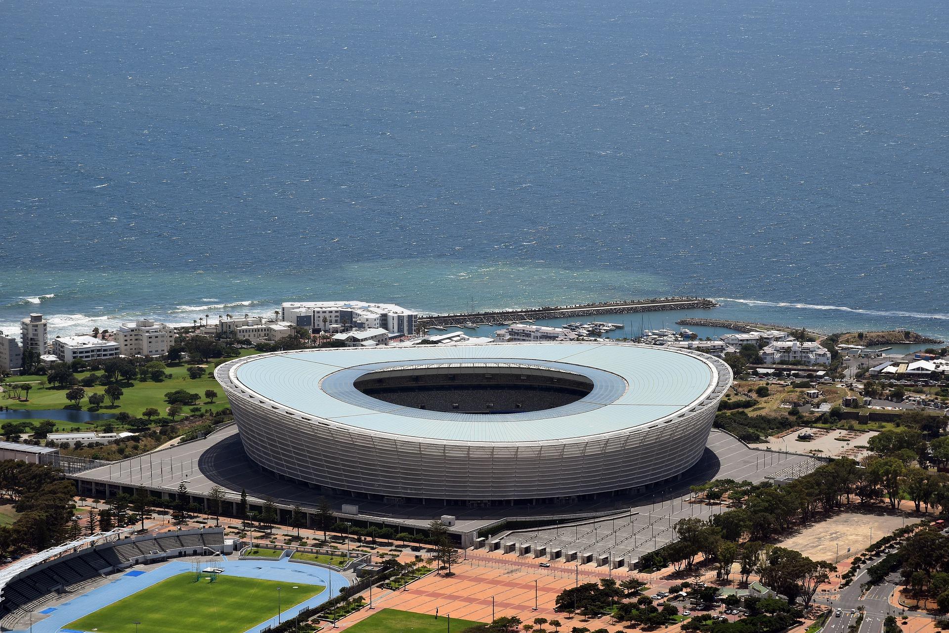 Estádio na Cidade do Cabo, África do Sul