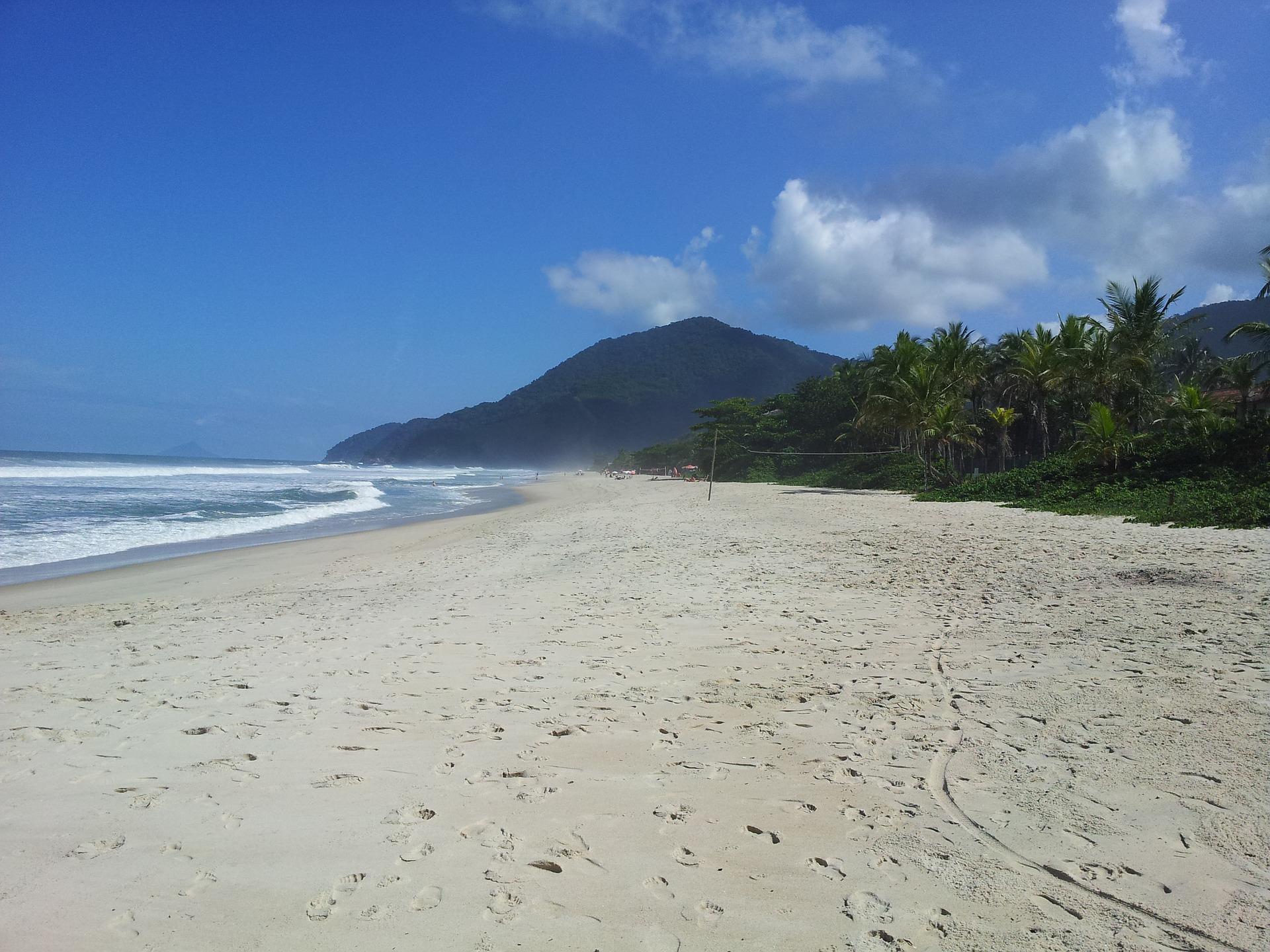 Praia em Maresias, litoral de São Paulo