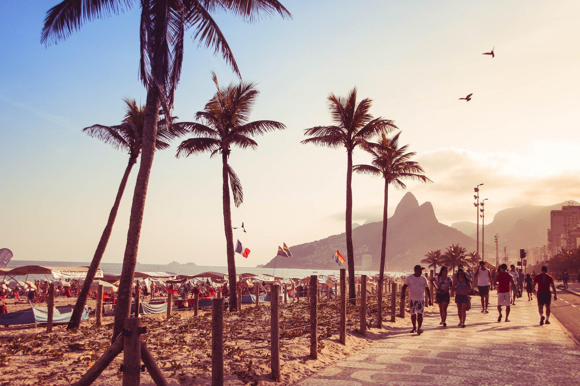 Orla de Copacabana no Rio de Janeiro