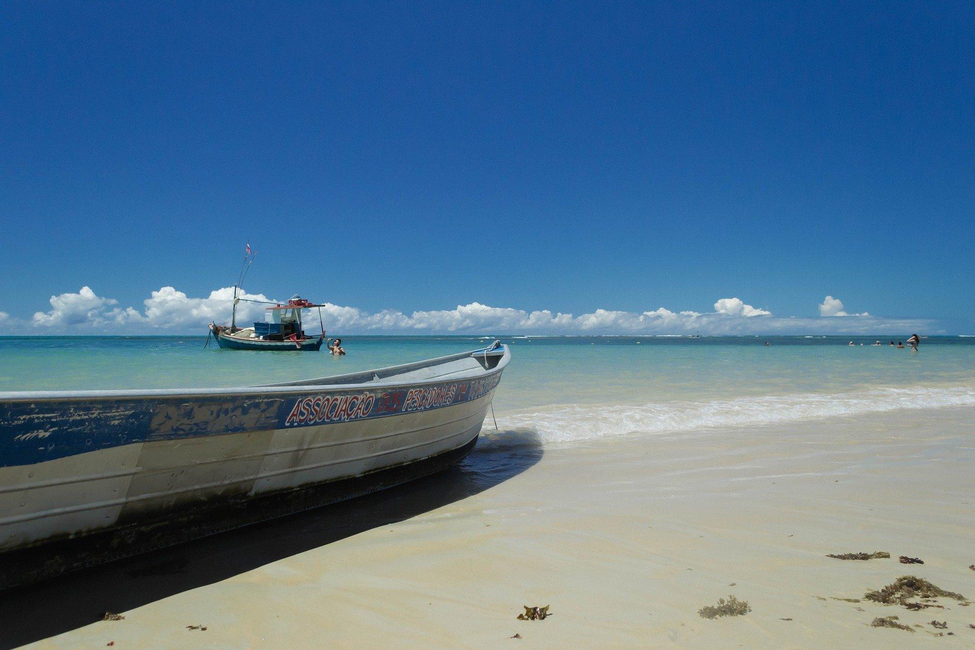 Praia dos Coqueiros em Trancoso, Bahia