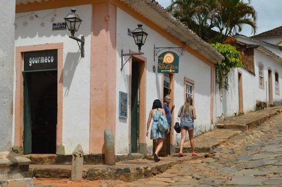 Fachada restaurante gourmeco em Tiradentes