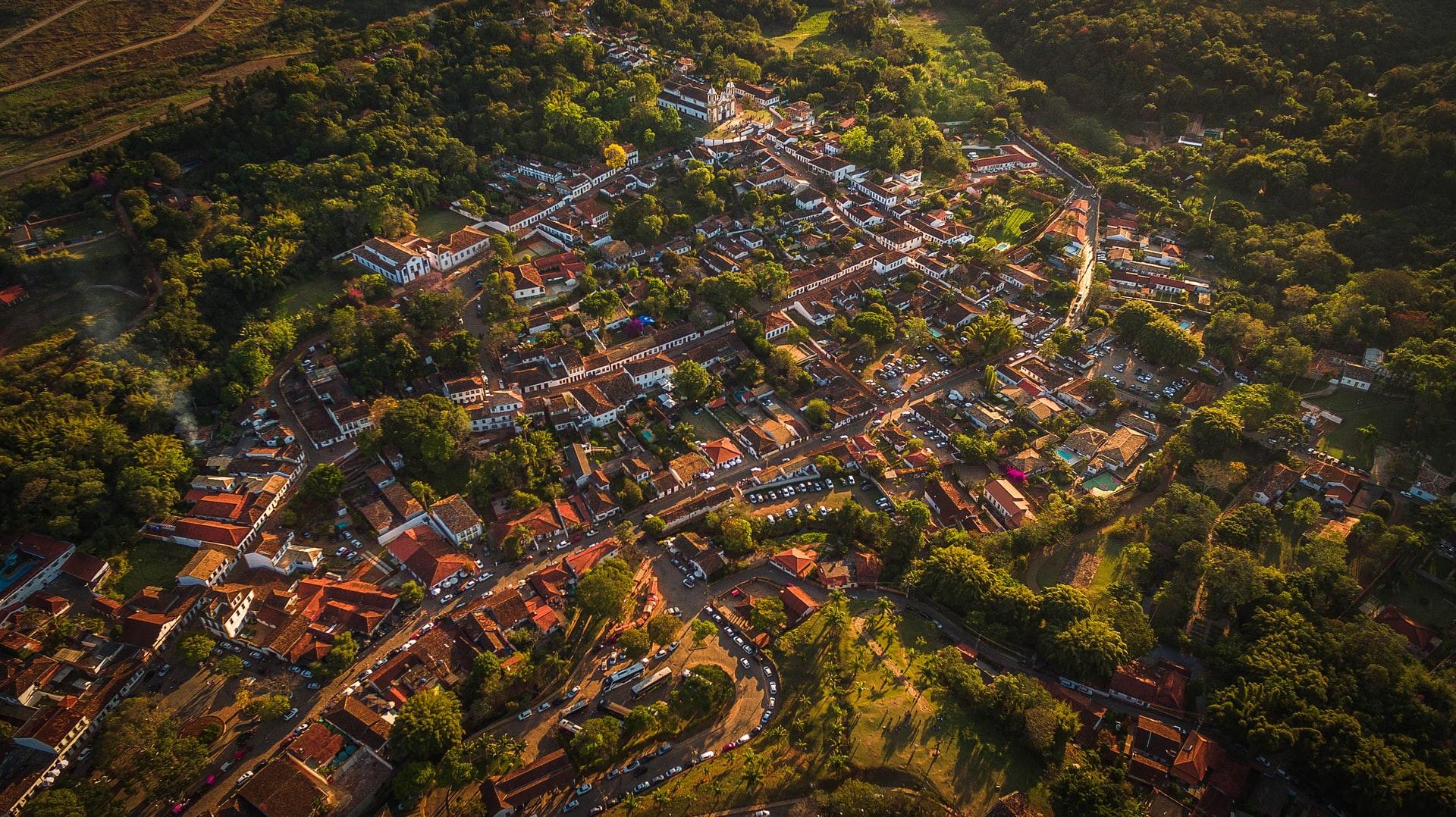 Vista aérea de Tiradentes