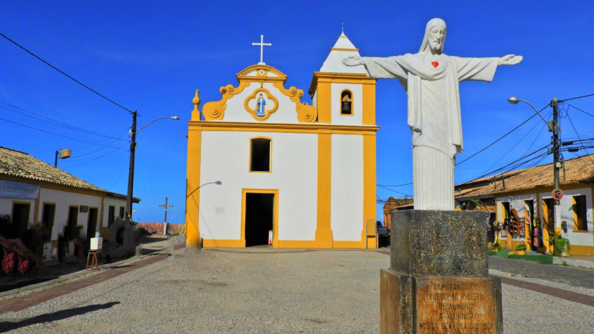 Frente da Igreja de Nossa Senhora d'Ajuda