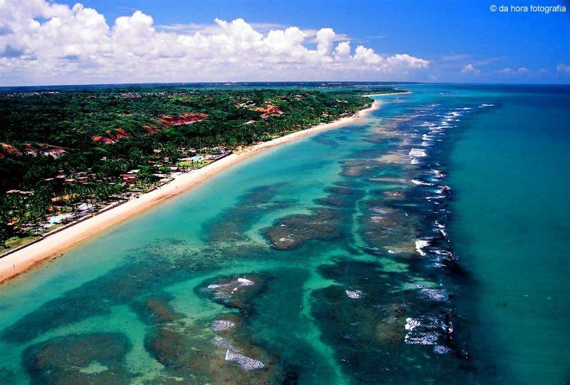 Vista aérea da Praia do Mucugê