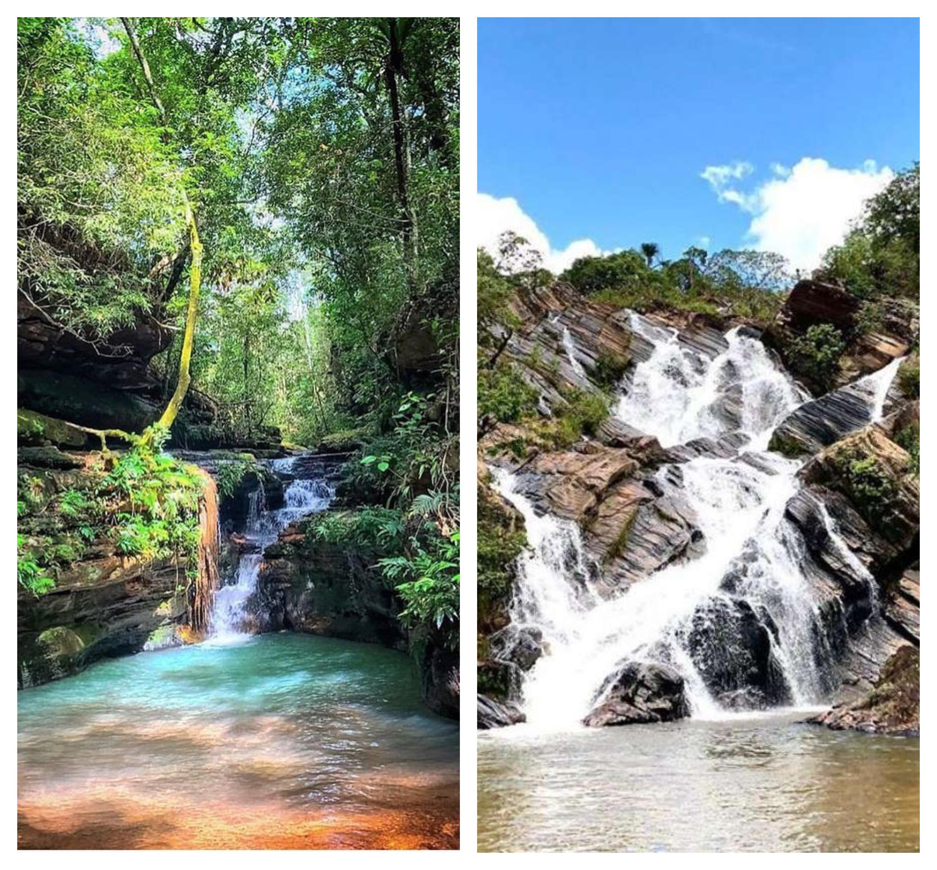 cachoeira na Chapada dos Guimarães MT