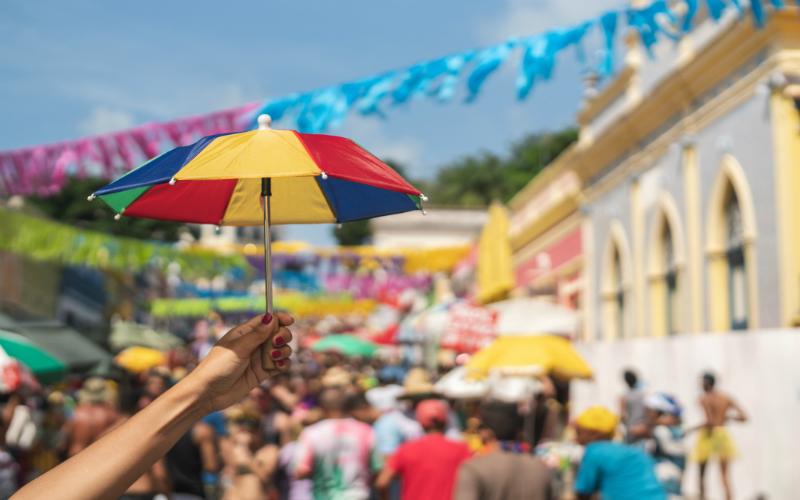 imagem de frevo no carnaval de Olinda