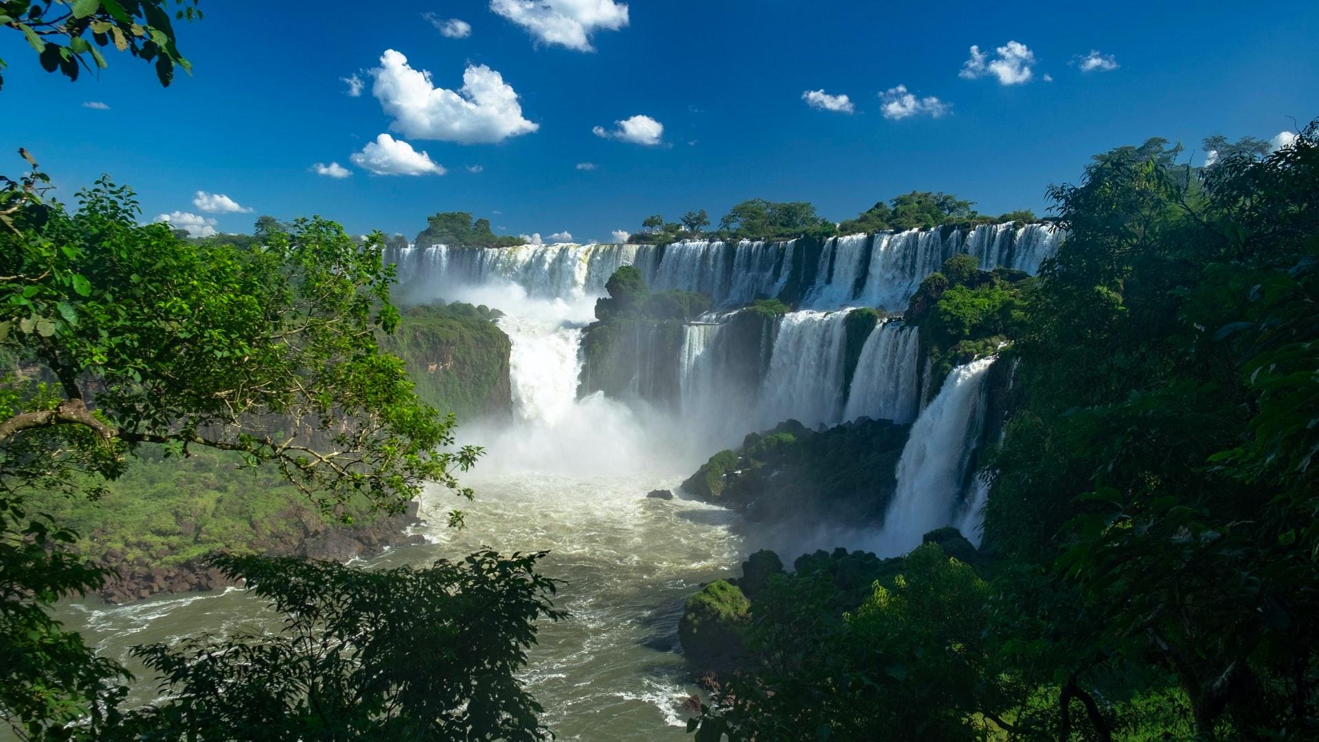 lado argentina das cataratas do Iguazu conhecido como Iguazu Falls