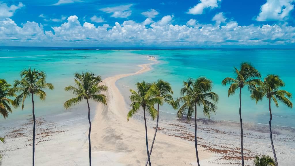 Praia de Maragogi perto de Porto de Galinhas em Pernambuco