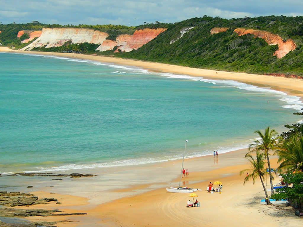 Vista aérea da Praia do Pitinga